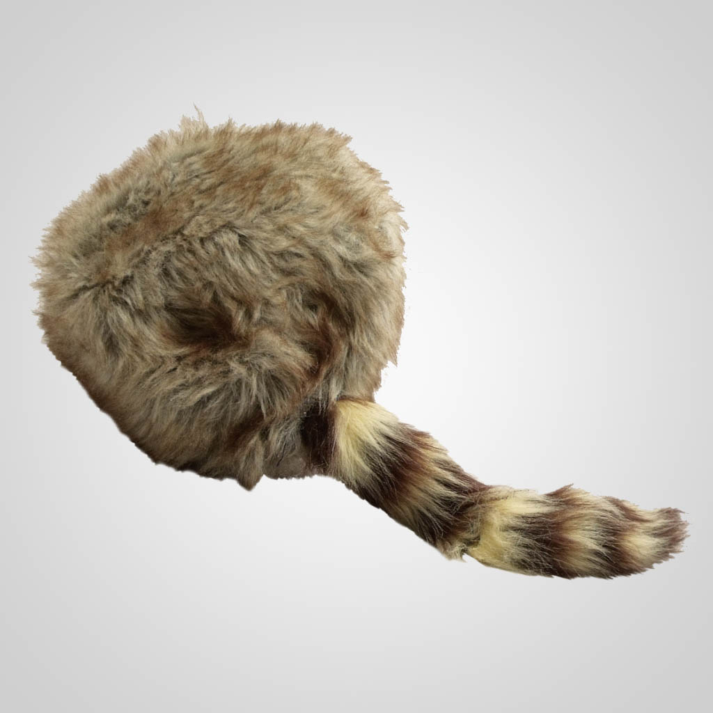 63150PL - Imitation Coon Skin Hat, Large, Plain