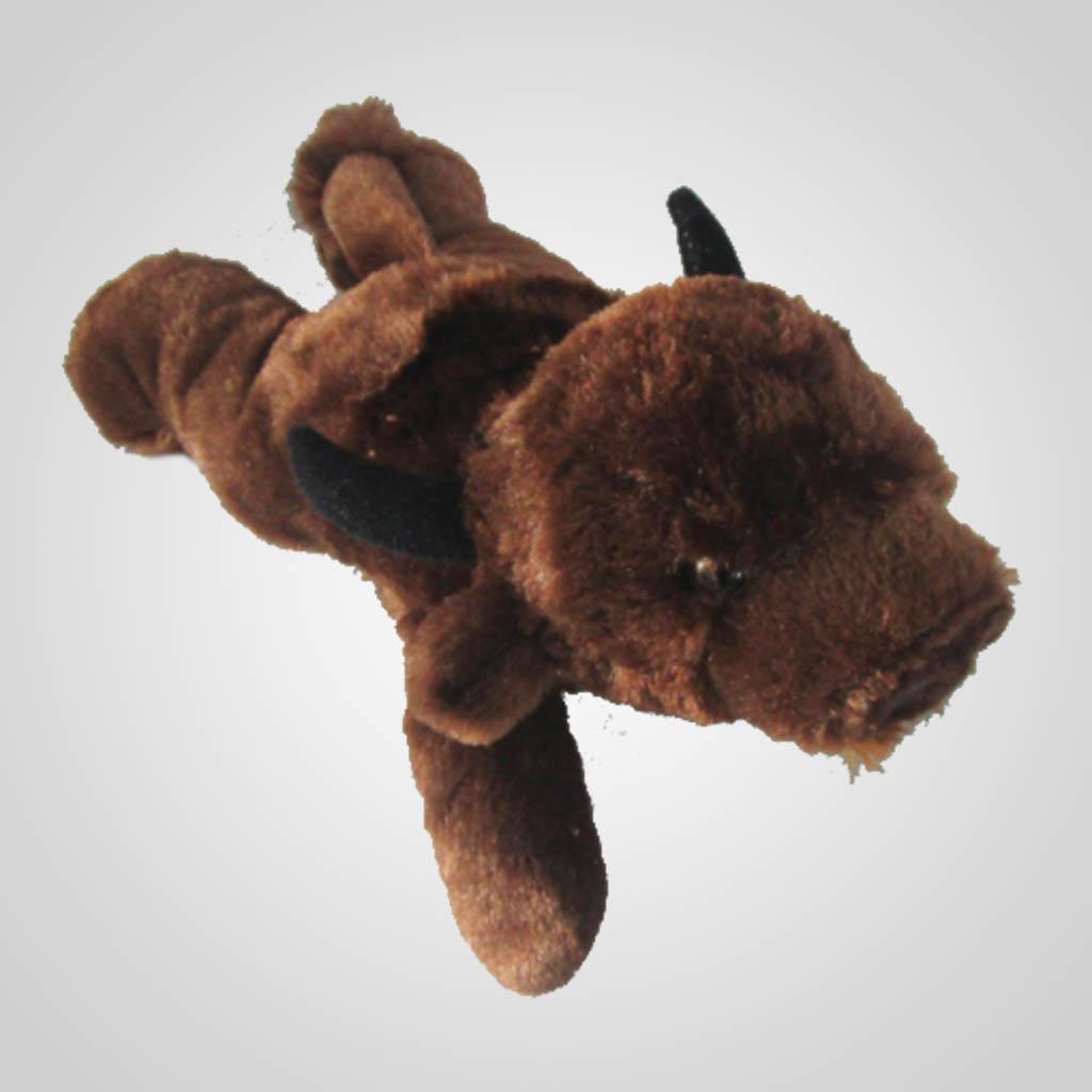 63185 - Lying Plush Brown Buffalo