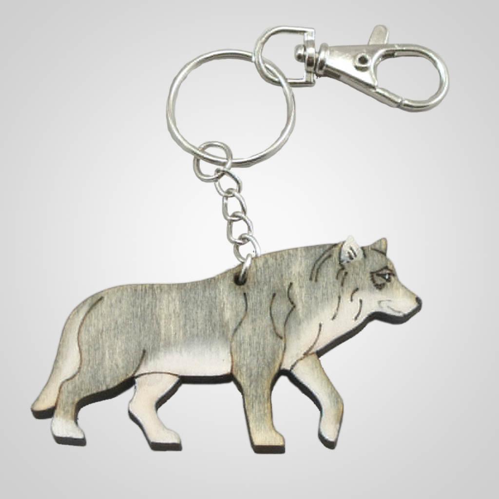 63202 - Laser Cut Wolf Keychain, Plain
