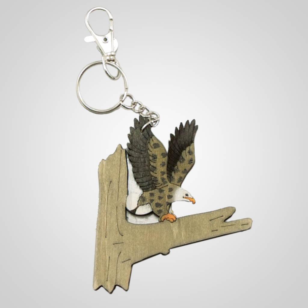 63203 - Laser Cut Eagle Keychain, Plain