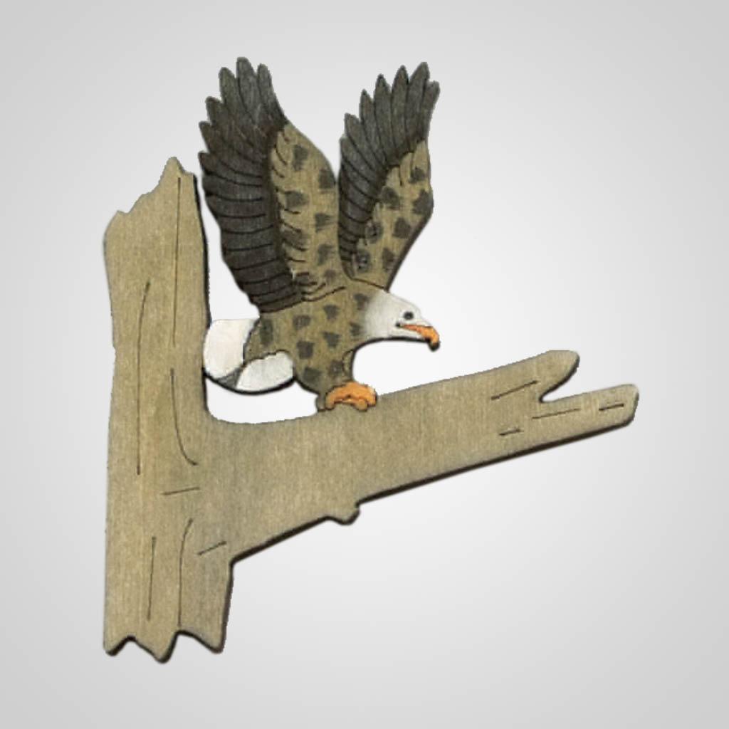 63204 - Laser Cut Eagle Magnet, Plain