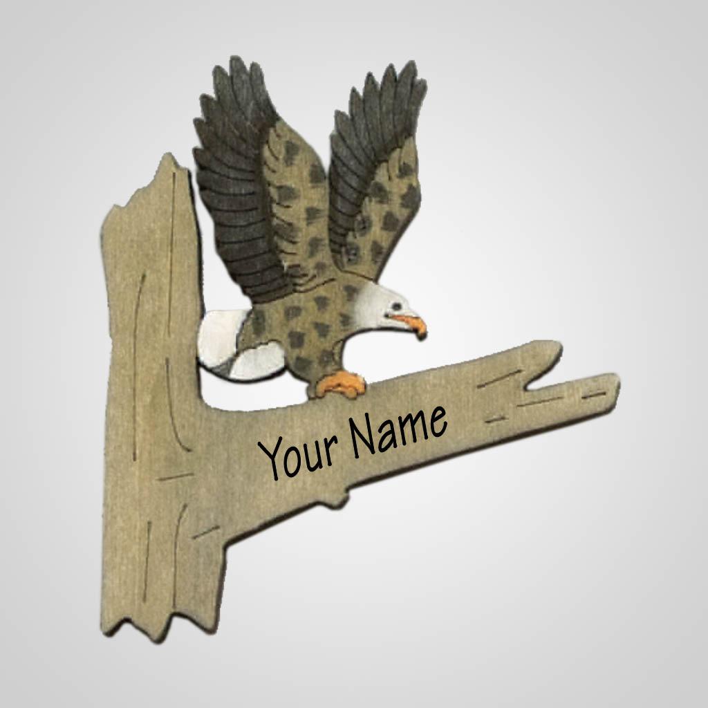 63204IM - Laser Cut Eagle Magnet, Name-Drop