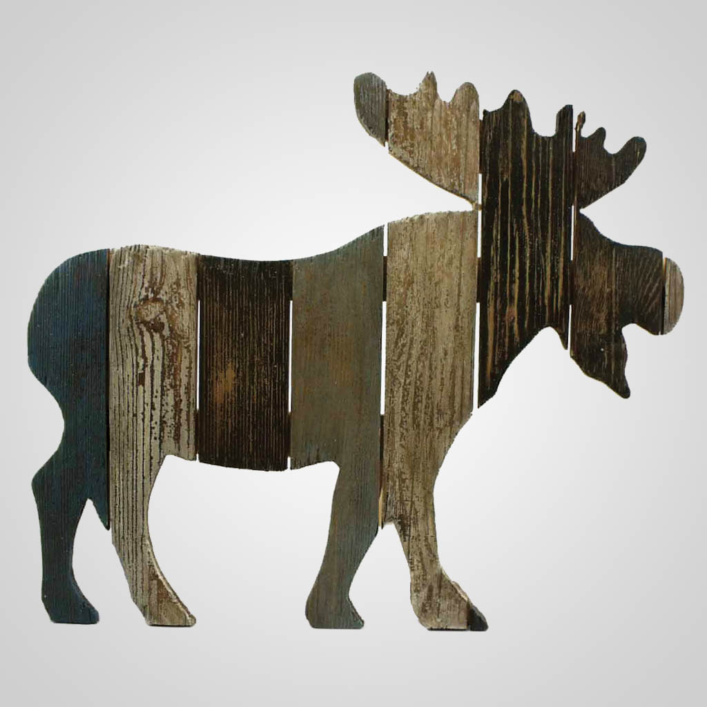 63214 - Moose Cutout Slats Wall Plaque