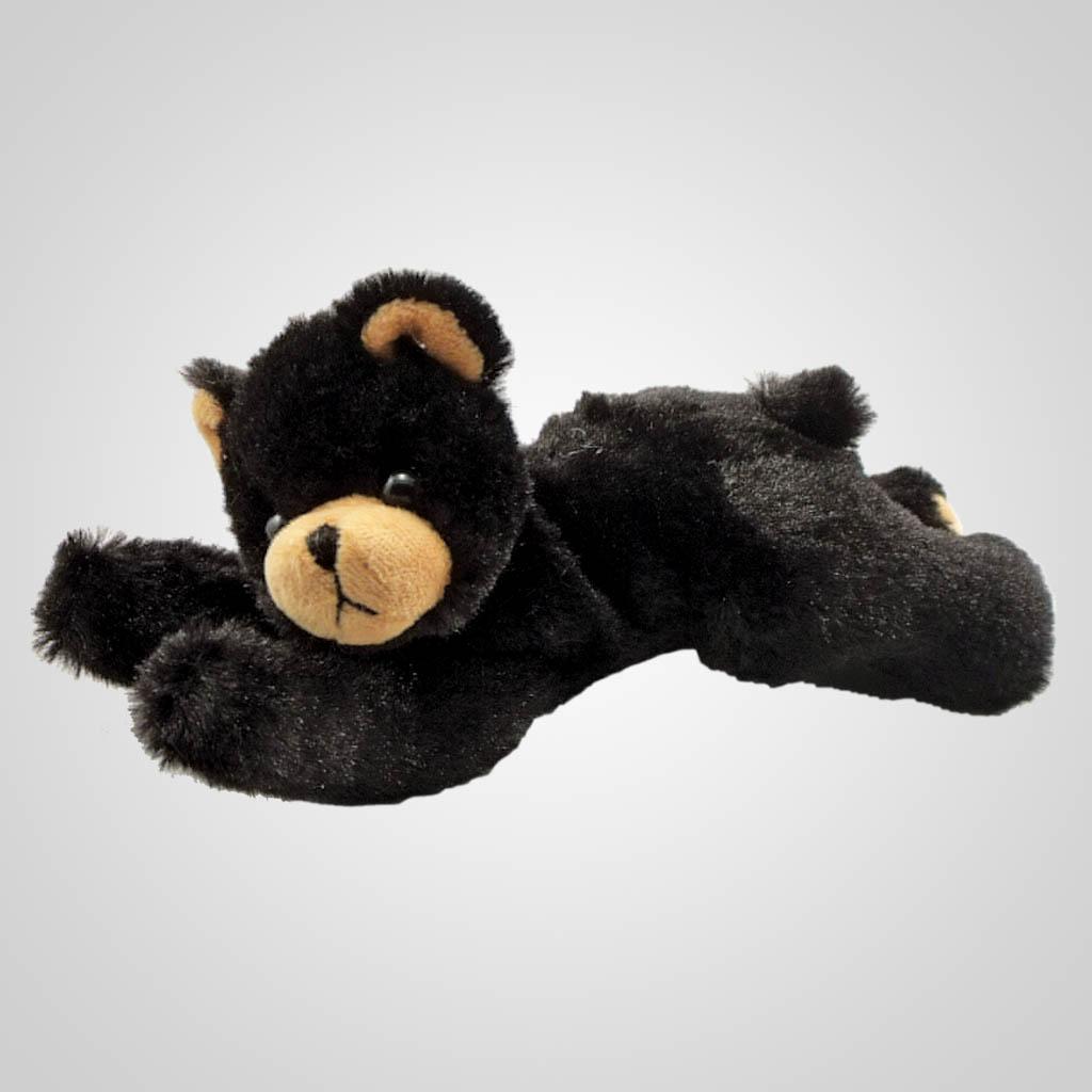 63228 - Plush Lying Black Bear, Plain