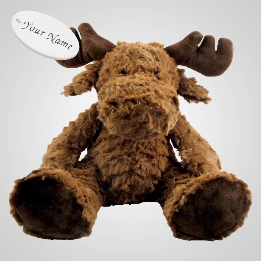 63261IM - Large Sitting Plush Moose, Name-Drop
