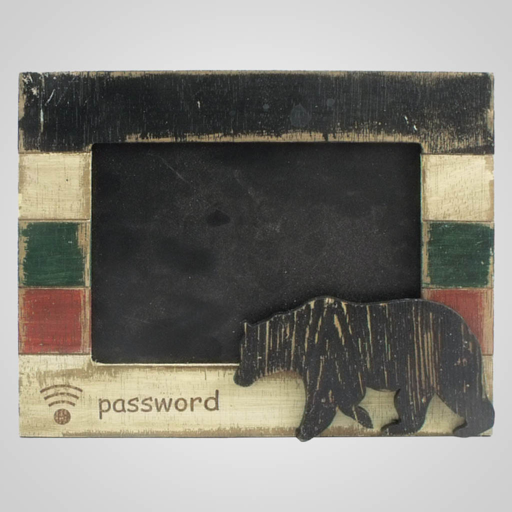 63268 - Wifi Password Bear Framed Chalkboard