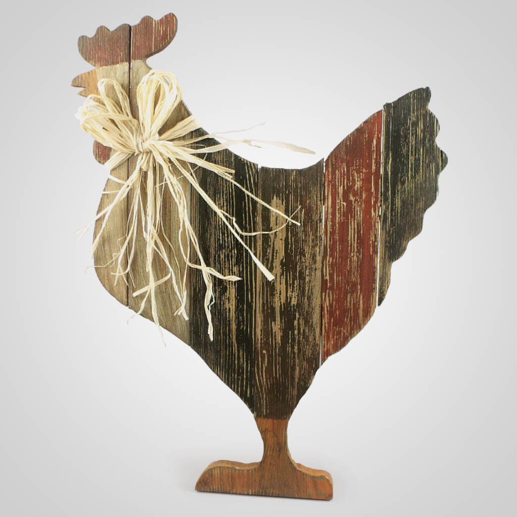 63281 - Wood Pallet Chicken Decor