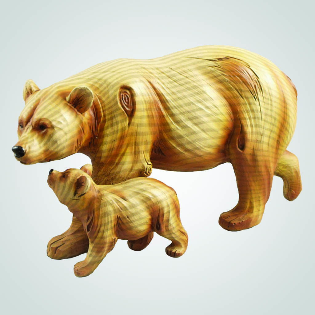 63290 - Woodgrain- Look Bear With Cub