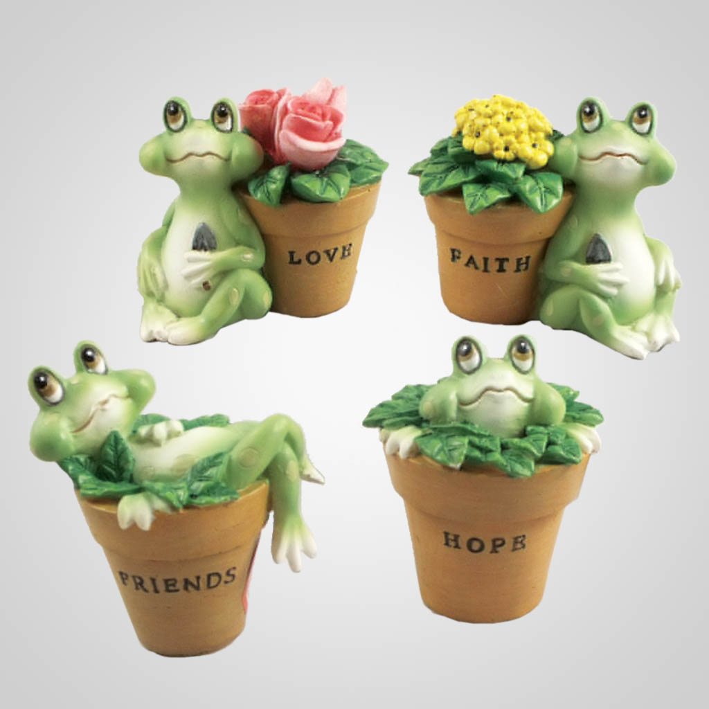 63292 - Frogs in Plantpots