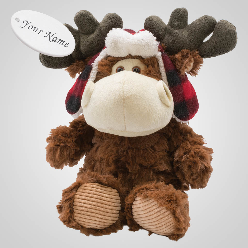 63332IM - Upper Hat Plush Moose, Name-Drop