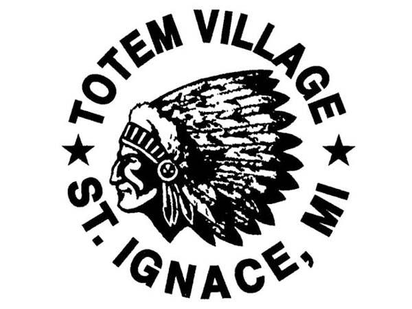 DD0104 - Indian Chief Head Totem Village Drum Design