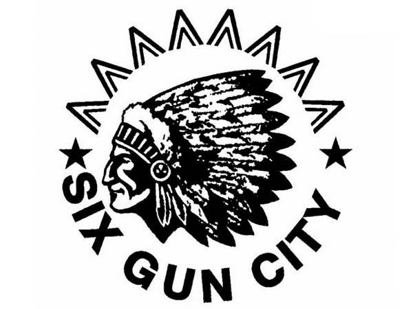 DD0113 - Indian Chief Six Gun City Drum Design