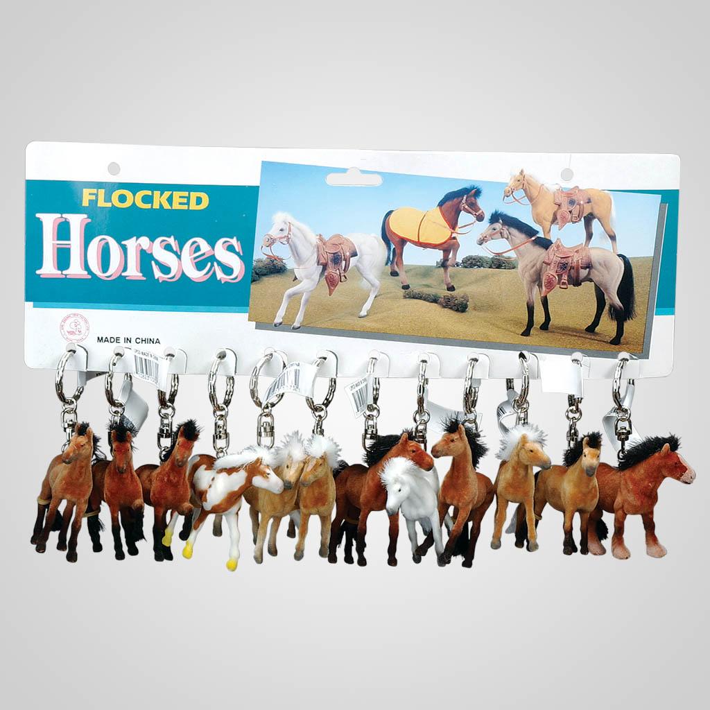 13732 - Flocked Horse Keychain