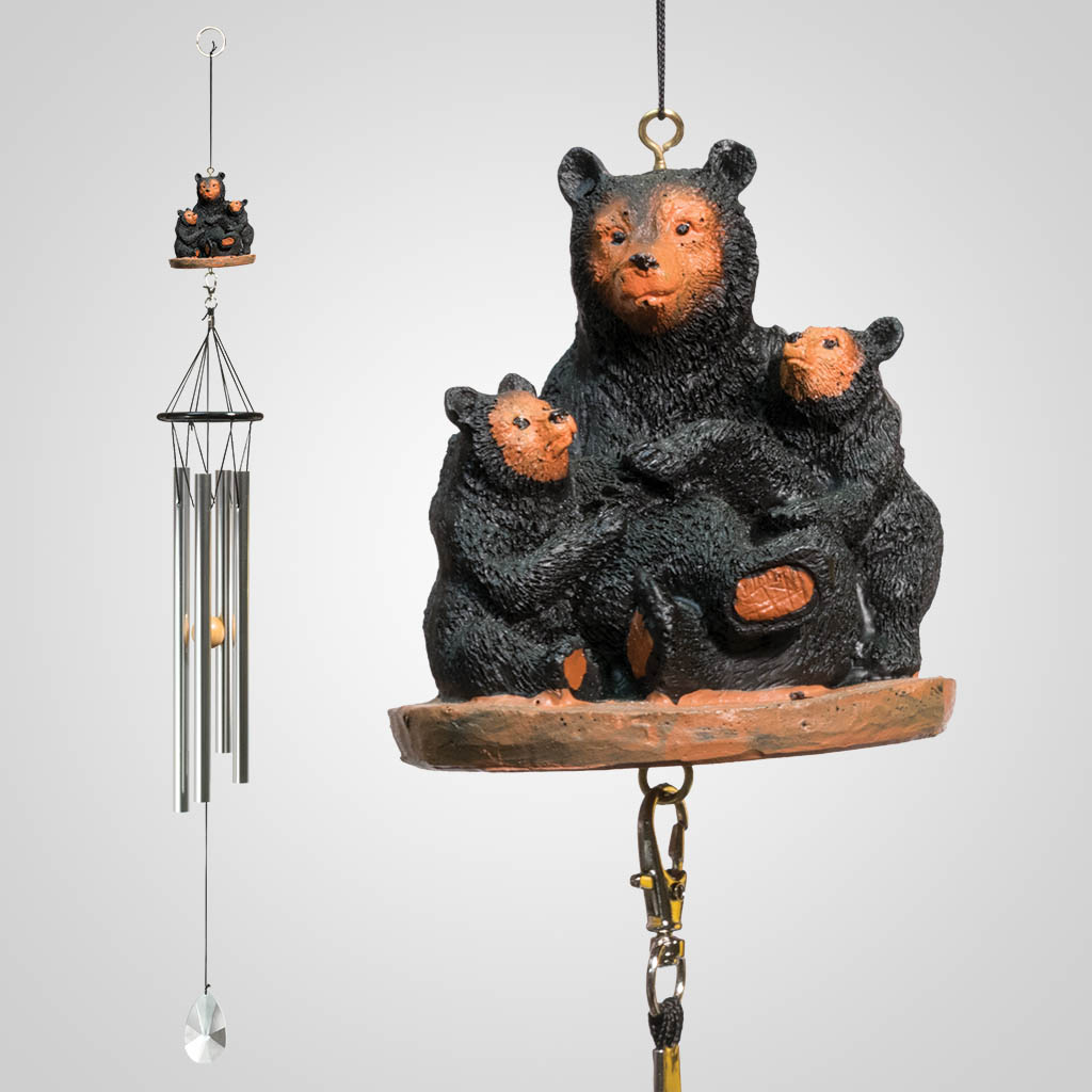 15693 - Black Bears Wind Chime