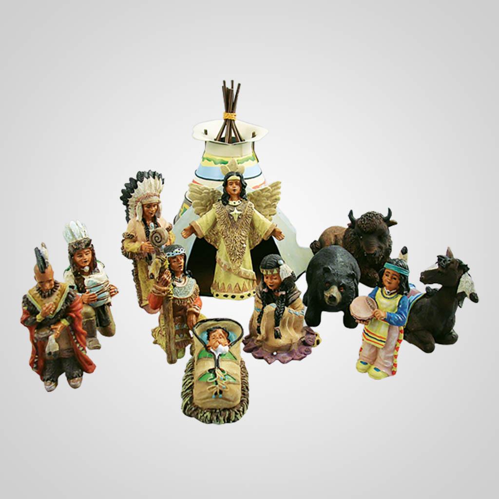 16700 - Indian Nativity Set