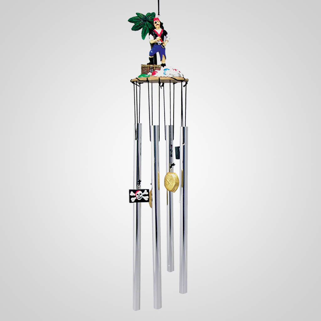 16977 - Pirate With Chest Wind Chime