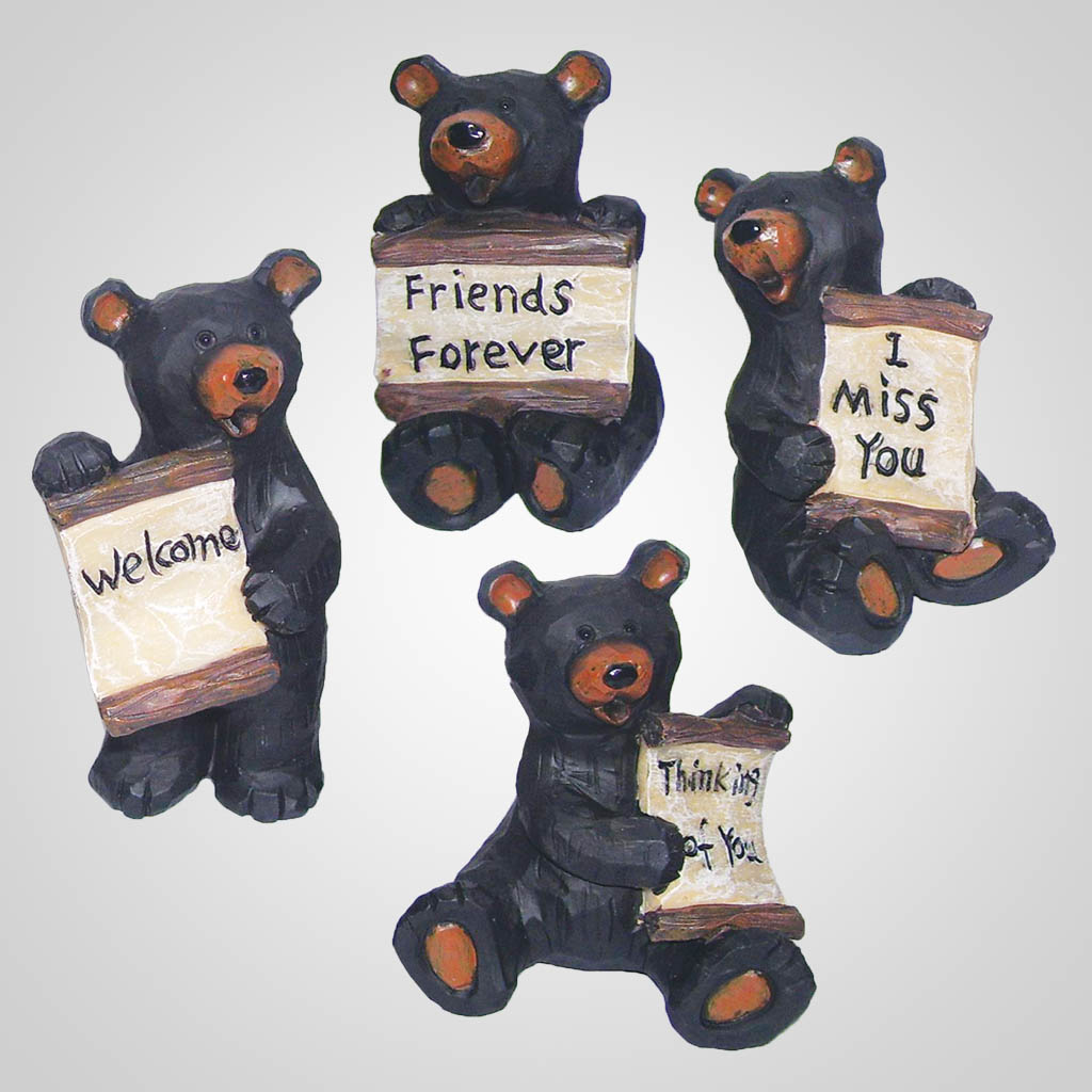 17419 - Bears With Banner Signs