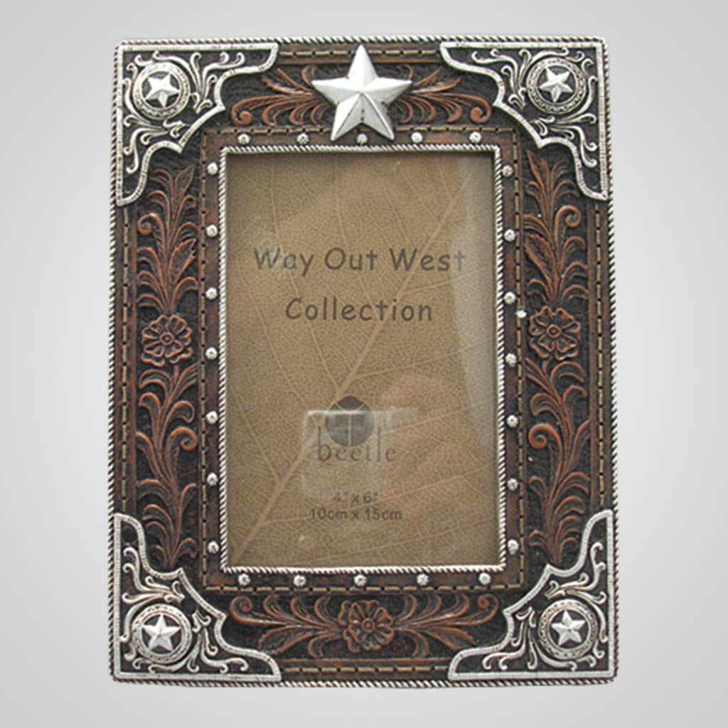 17584 - Leather Look Photo Frame