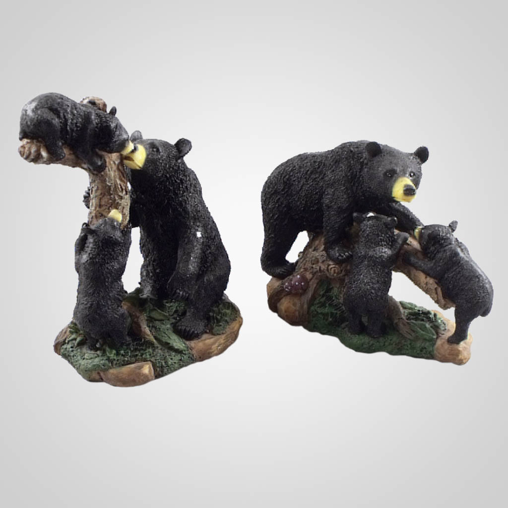 17718 - Bear With Cub Figurines