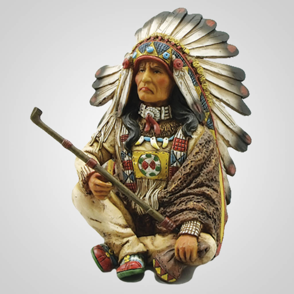 17831 - Indian Chief With Peace Pipe