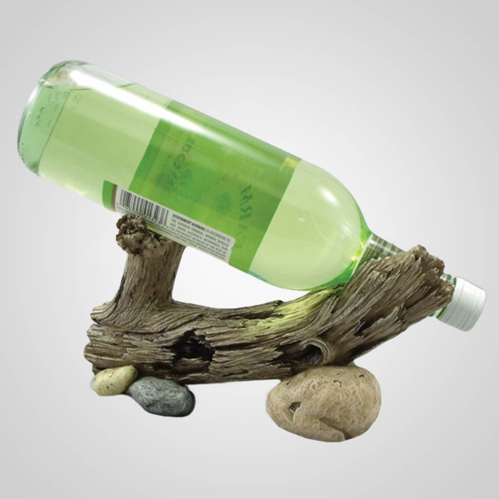 17834 - Rock & Log Wine Holder