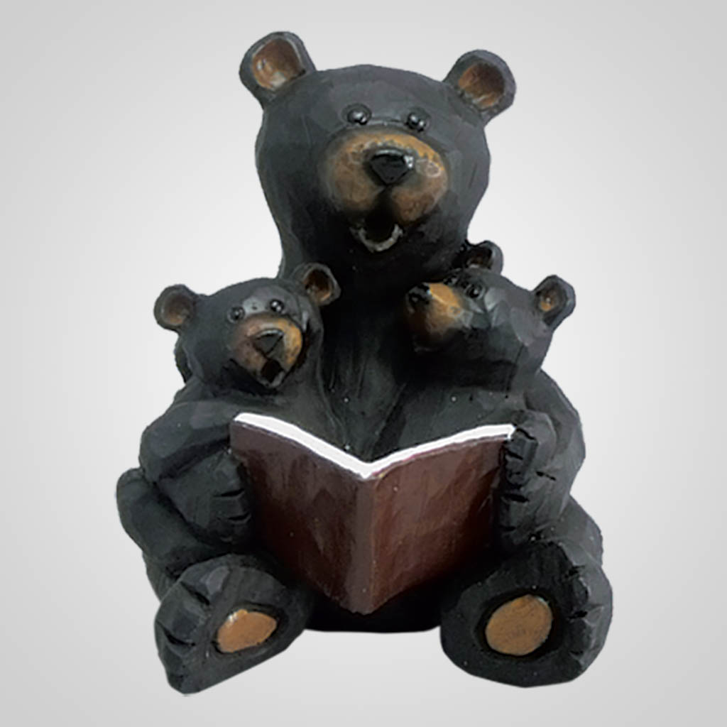 17940 - Bear Reading To Cubs Figurine