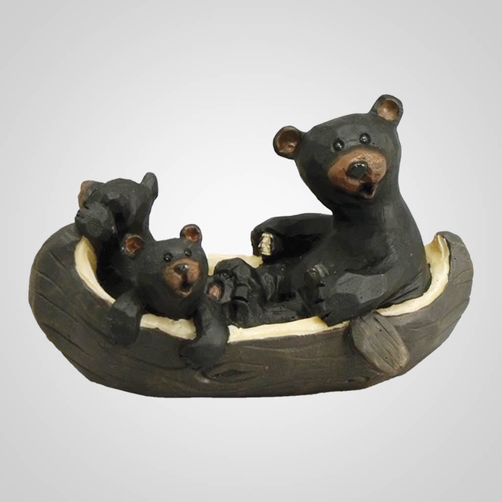 17942 - Bears In Canoe