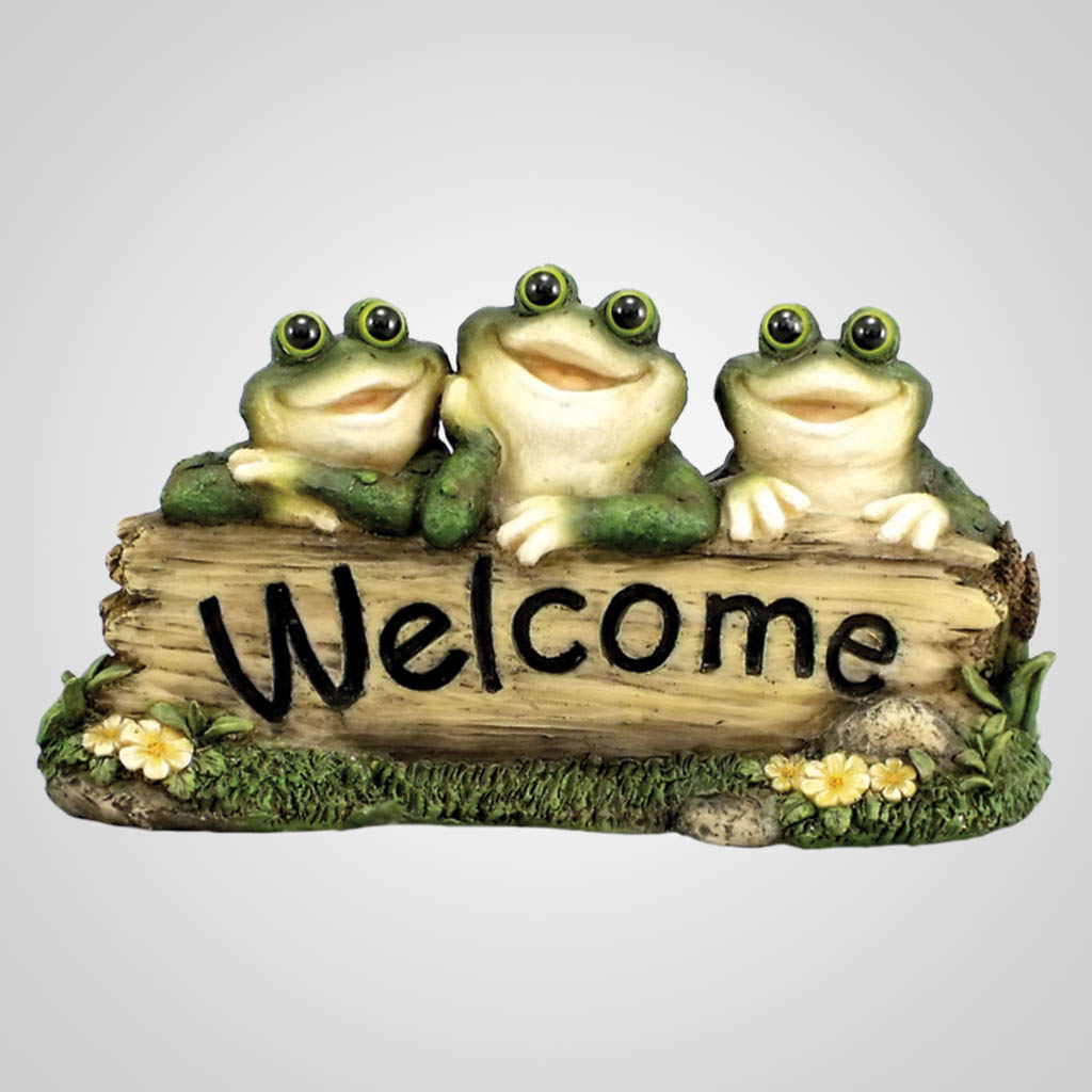 18203 - Frog Trio 'Welcome' Figurine