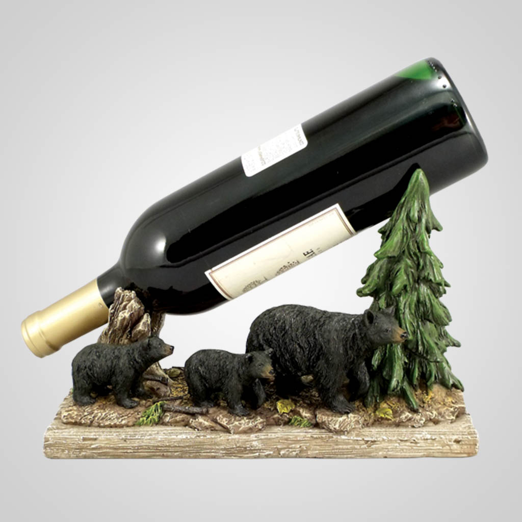 18212 - Bears In Trees Wine Holder