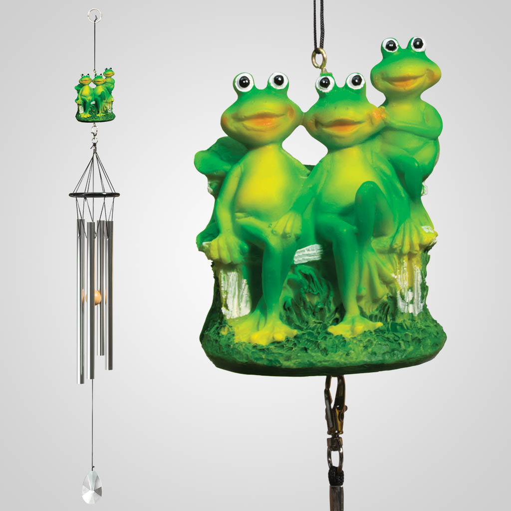 18347 - Frog Family Wind Chime