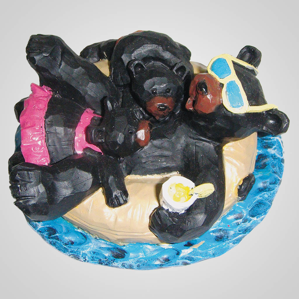 18350 - Bear Family Tubin' Fun Figurine