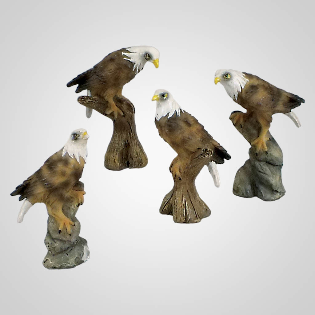 18531 - Perched Eagle Figurines