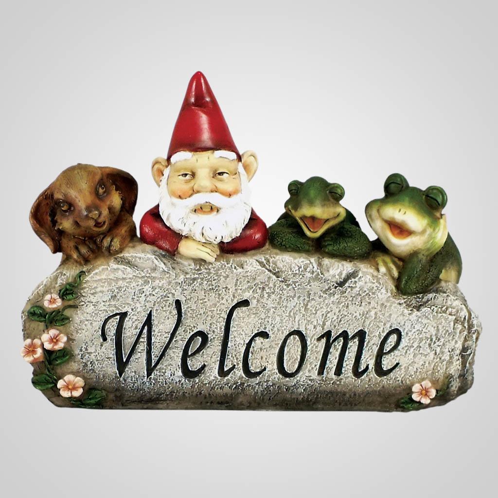 18542 - Garden Gnome Welcome Sign