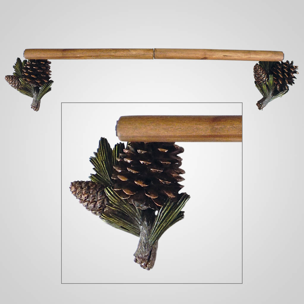 18571 - Pinecone Towel Bar