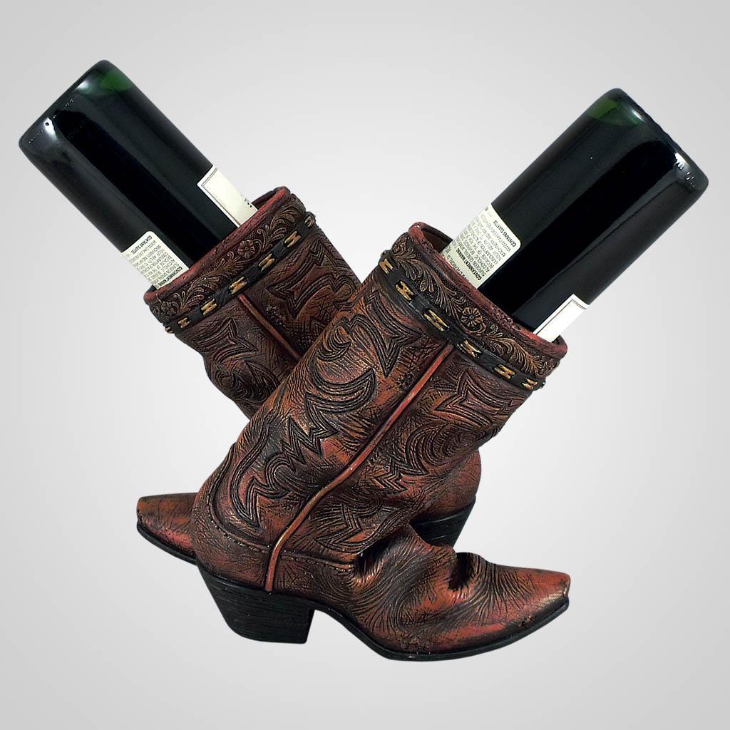 18574 - Double Boot Wine Holder