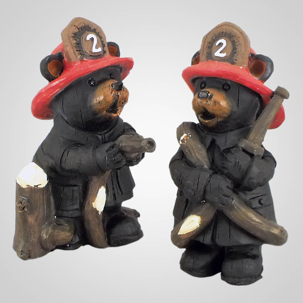 18611 - Fire Fighter Bear Figurine