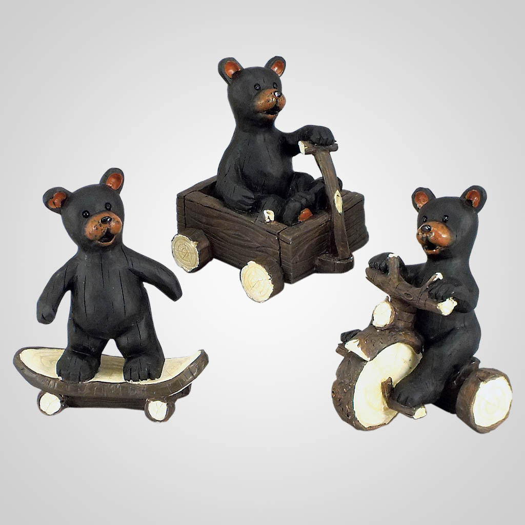 18612 - Bear On Wheeled Toy Figurine