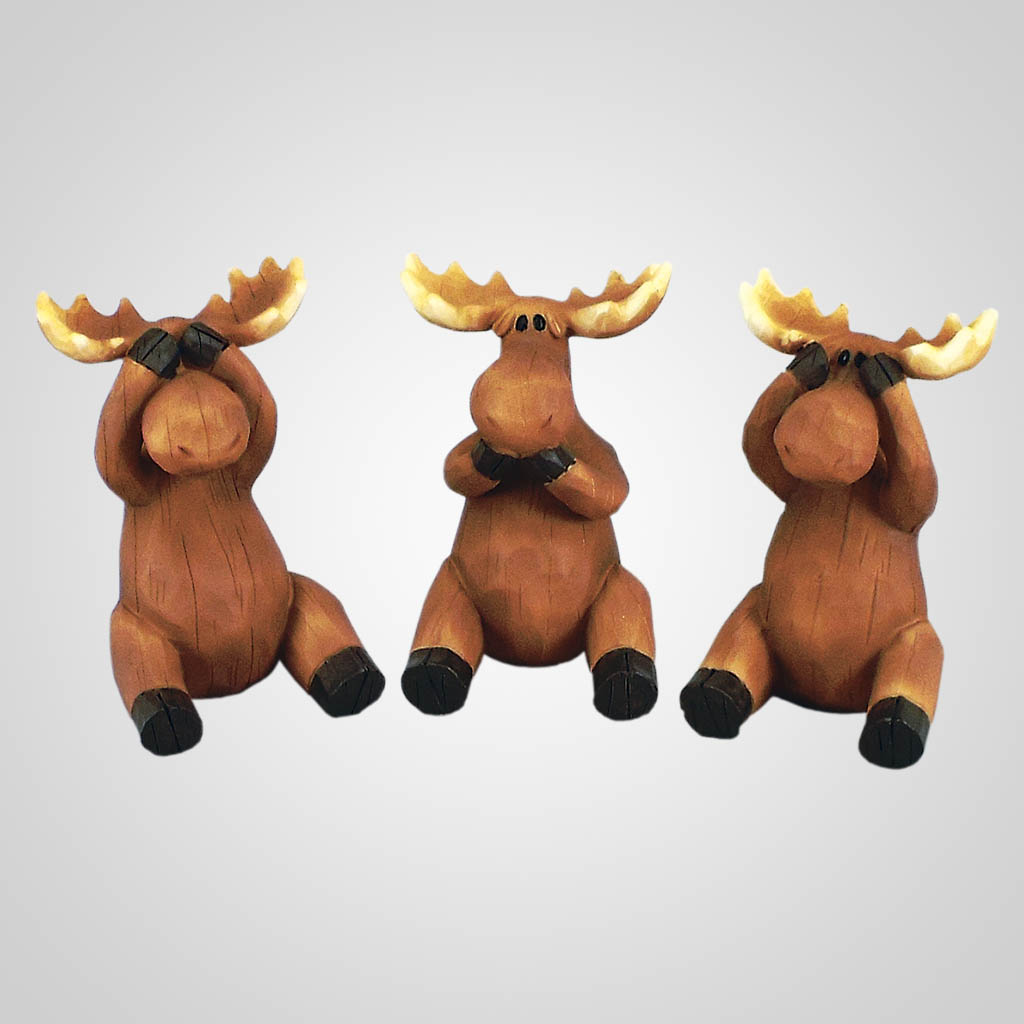 18615 - See Hear Speak No Evil Moose