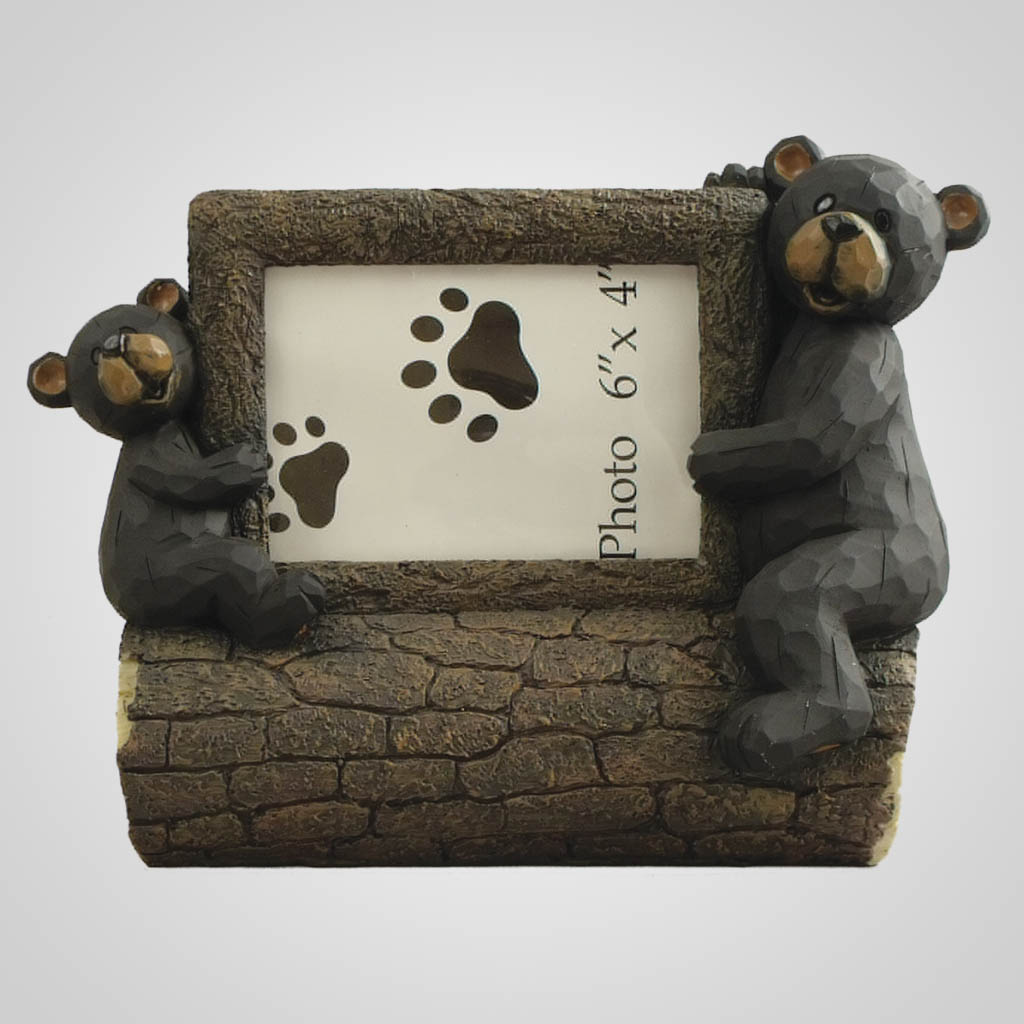 18830 - Bear & Cub On Log Photo Frame