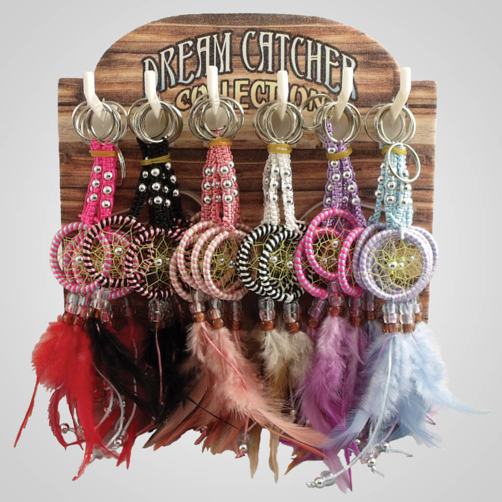 18834 - Braided Dreamcatcher Keychain With Display