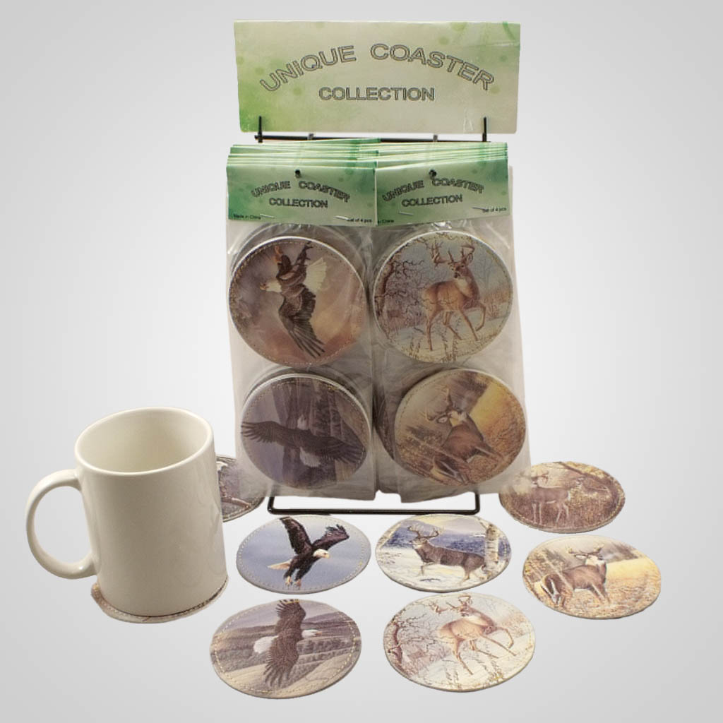 18836 - Wildlife Vinyl Coasters