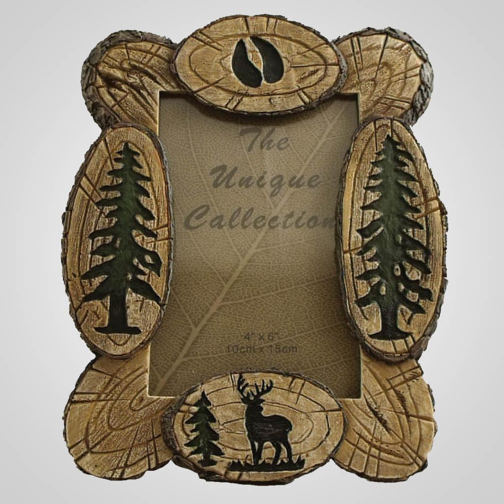 18839 - Deer Wood Look Photo Frame