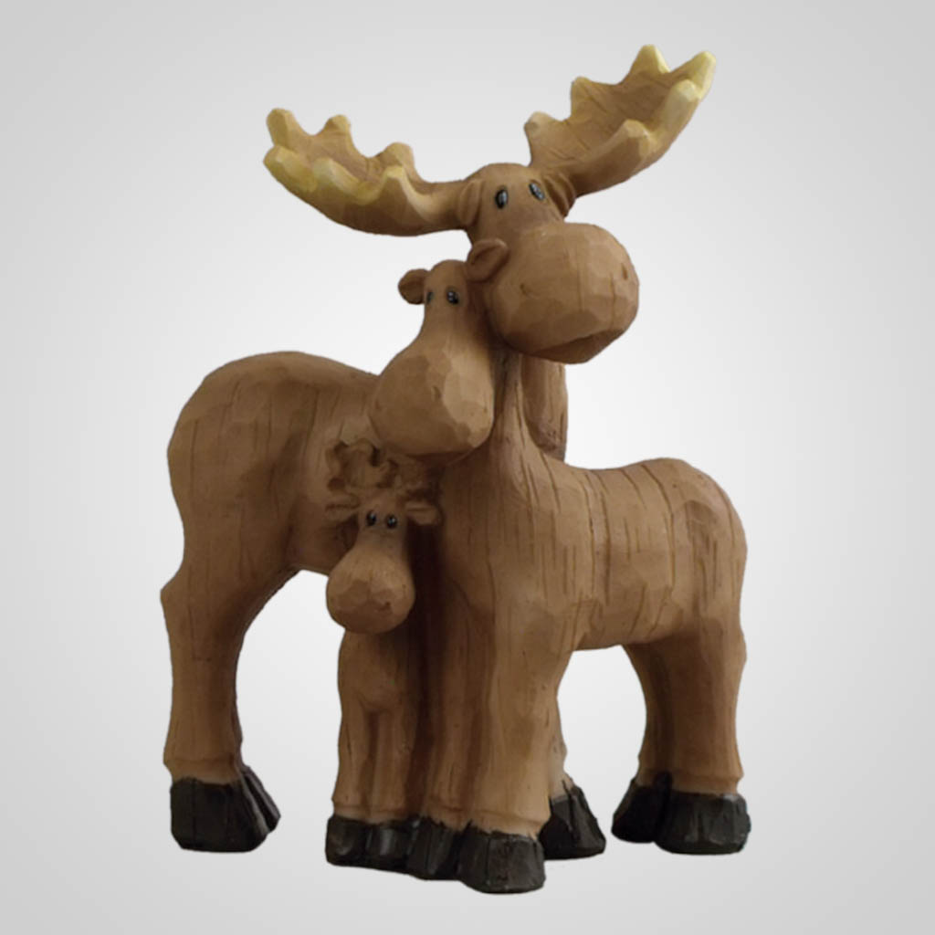 18851 - Moose Family Figurine