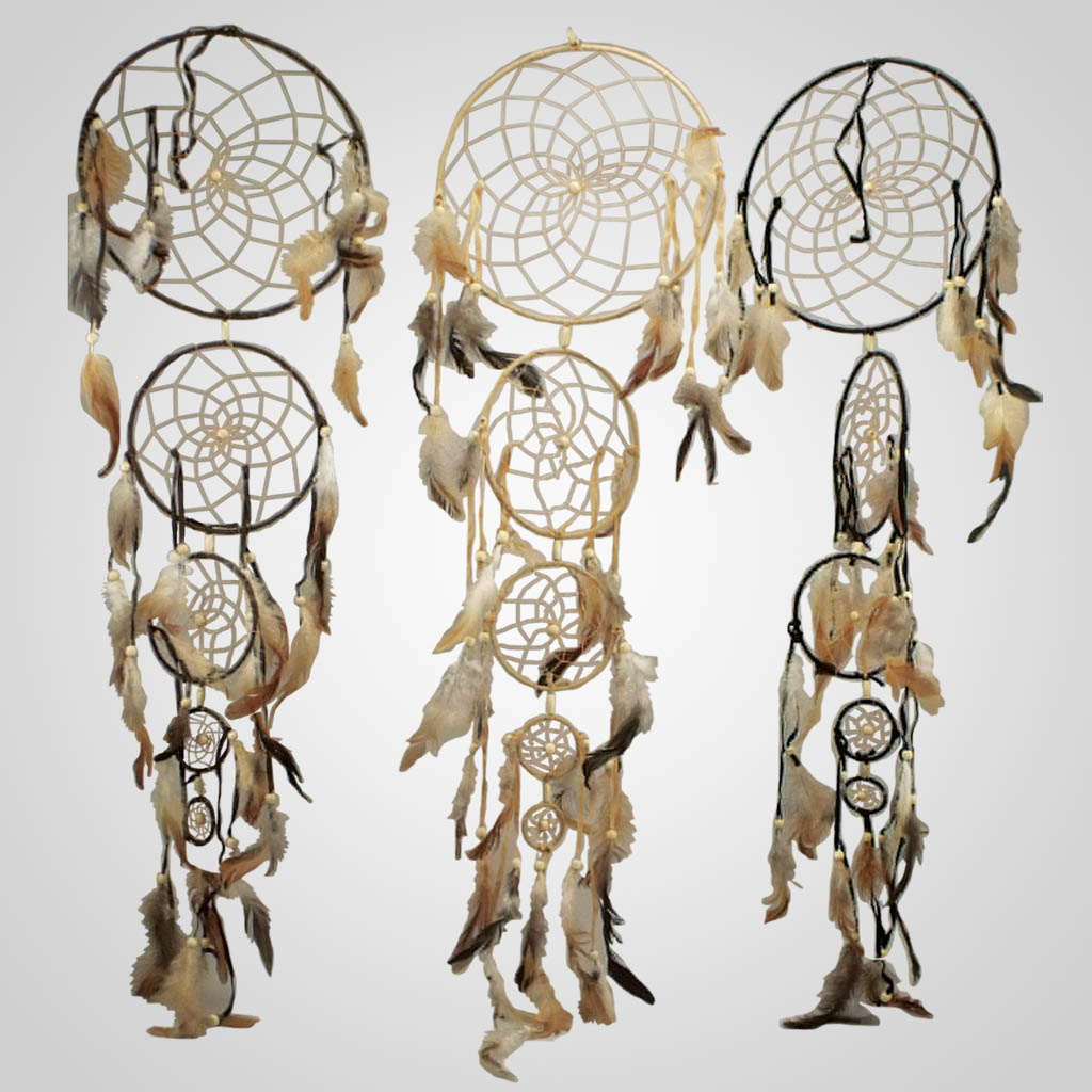 18956 - Five Ring Vertical Dreamcatchers