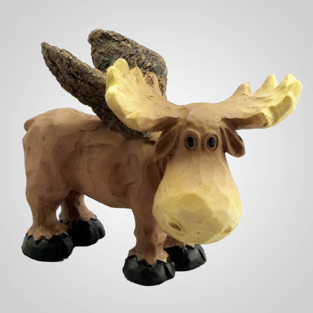 18971 - Flying Moose Figurine