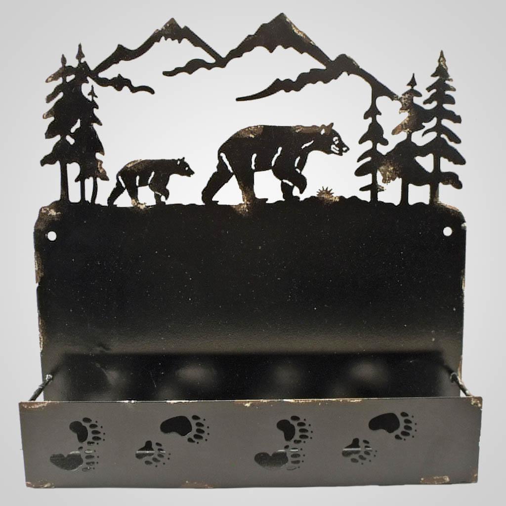 19069 - Bears Laser-Cut Metal Wall Shelf