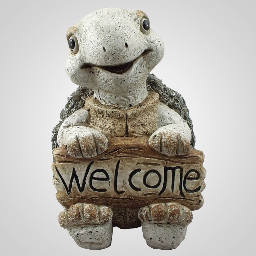 19096 - Pebble-Stone Turtle Welome Sign