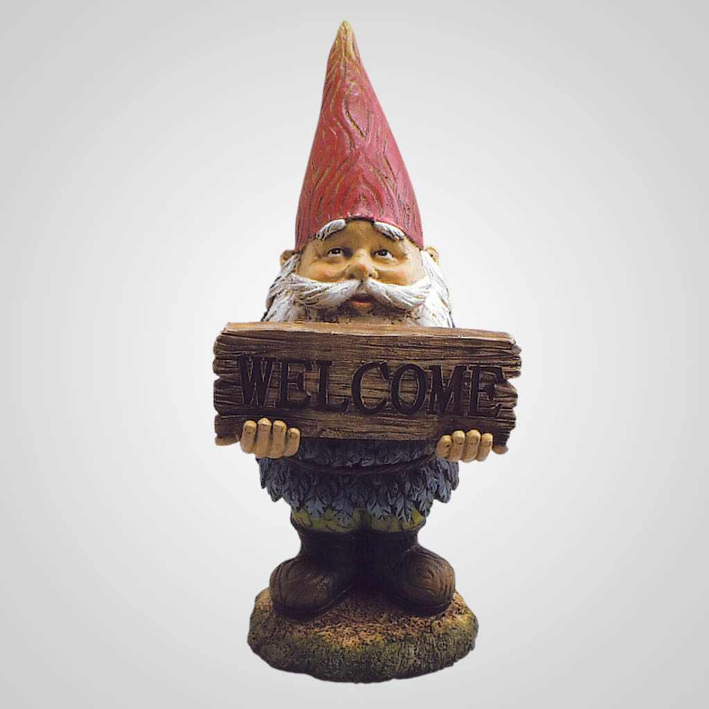 19131 - Large 'Welcome' Garden Gnome