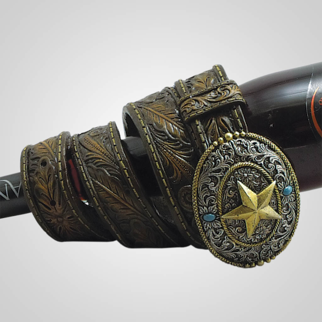 19144 - Western Belt Wine Holder