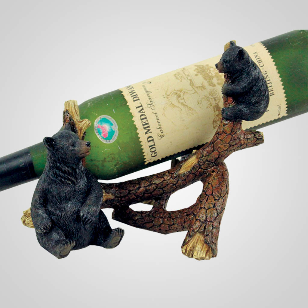19151 - Black Bear Branch Wine Holder